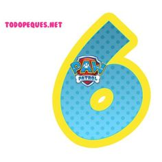 Paw Patrol Party, Paw Patrol Birthday, Dog Themed Parties, Cumple Paw Patrol, Pow, Bubble Letters, Birthday Numbers, Party Themes, Party Ideas