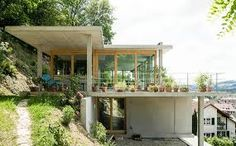 Afbeeldingsresultaat voor house on slope