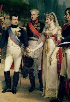 Napoleon receiving Louise de Prussia, not to mention Tsar Alexander I.  By Nicolas Louis Francois Gosse.