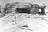 The Nazi propaganda picture shows soldiers of the Italian army in the Tunisian desert. The photo was taken in November - Stock Photo