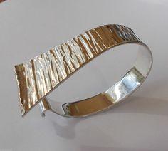 #forsale > Anton Michelsen (DK), modernist sterling silver bangle. #denmark | finlandjewelry.com