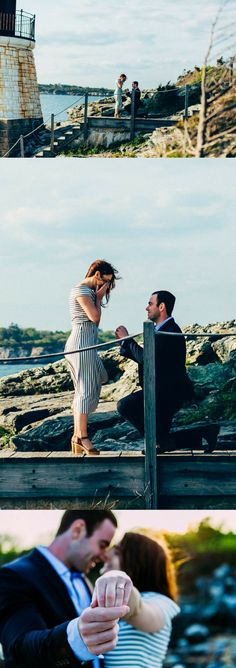 This lighthouse proposal is so beautiful, and their love story is perfect in every way.