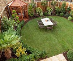 Best Small Yard Landscaping & Flower Garden Design Ideas - New ideas Garden Design Ideas Uk, Cottage Garden Design, Backyard Garden Design, Garden Landscape Design, Small Garden Design, Backyard Patio, Backyard Ideas, Gravel Patio, Backyard Privacy