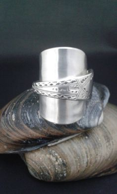 Silver Spoon Ring created from an Antique English Sterling Silver Tea Spoon - London 1911 Makers GJDF Initial q - Handmade by Adrift Crafts by AdriftCrafts on Etsy