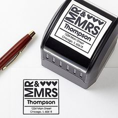Instead of printing 500+ return address labels for thank yous, invites, save the dates, & replies, get a stamp! Saves you a ton of time and money! Every Bride needs one of these personalized wedding stamps!