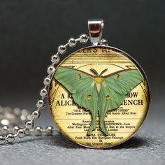 How to make a resin pendant Luna Moth Resin Pendant by Resin Pendants and Accessories