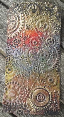 Neelz Expressionz: Enameling Tutorial - using dry and heat embossing