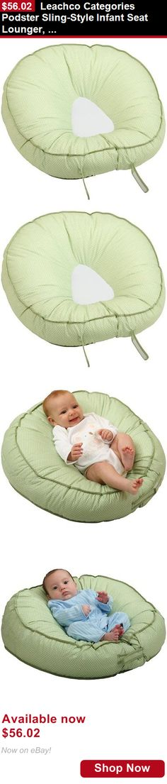 Baby Safety Sleep Positioners: Leachco Categories Podster Sling-Style Infant Seat Lounger, Sage Pin Dot BUY IT NOW ONLY: $56.02