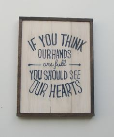 Must remember this for a quick comeback when people look at us (mainly me like I'm absolutely crazy) and inevitably say - oh my you are certainly going to have your hands full, good luck! Thanks, I'll take your good luck & my full heart ❤️