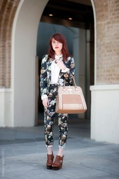 Stephanie in London working a double print floral number to perfection. #WayneTippetts