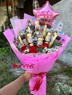 Order or enquiry's please Whatsapp us No : We provide delivery for Penang Kedah Kl Selangor (Selected Area) Candy Bouquet Diy, Food Bouquet, Gift Bouquet, Cute Birthday Gift, Diy Birthday, Personalised Gifts Diy, Diy Gifts, Alcohol Gift Baskets, Mason Jar Christmas Crafts