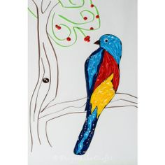 A colorful bird design wall art for yor sweet home.