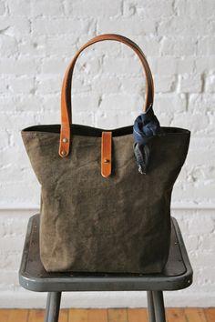 World War 1 era Black Canvas Tote Bag - FORESTBOUND