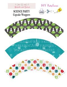 Shop for science on Etsy, the place to express your creativity through the buying and selling of handmade and vintage goods. Mad Science Party, Mad Scientist Party, Birthday Treats, Boy Birthday, Kid Picks, Bachelorette Ideas, Room Mom, Cupcake Wrappers, Cupcake Party