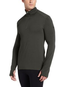 Icebreaker Men's Tech Top Long Sleeve Half Zip Top, Cargo, Small -- Click image to review more details.
