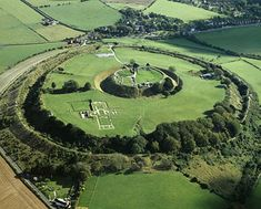 #Wiltshire: Old Sarum - England. The mighty Iron Age hill fort was where the first cathedral once stood and the Romans, Normans and Saxons have all left their mark.