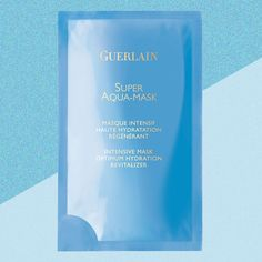 Guerlain's Super Aqua-Mask is the post-rager face saver we've all been waiting for. Sheet Mask, Men's Grooming, Gq, Masks, Daddy, Skincare, British, Face, Skincare Routine
