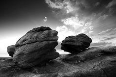 Kissing Stones Bleaklow - Mono Landscapes