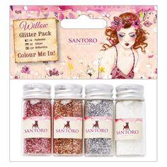 Colour Me In Glitter Pack (4pk) - Santoro | docrafts.com