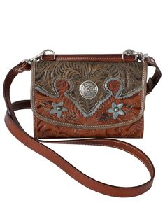 American West® Desert Wildflower Small Crossbody Bag :: American West :: Purses-Wallets-Cellphone Cases-Key Chains :: Accessories :: Ladies :: Fort Western Online