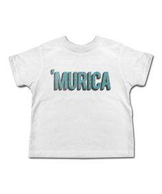 Look at this #zulilyfind! White 'MURICA' Tee - Toddler & Kids by American Classics #zulilyfinds