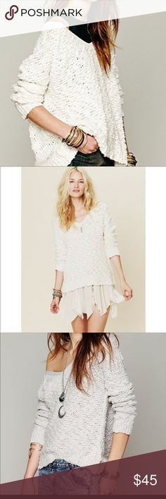 I just added this listing on Poshmark: Free People Shaggy Knit Pullover Sweater off white. #shopmycloset #poshmark #fashion #shopping #style #forsale #Free People #Sweaters