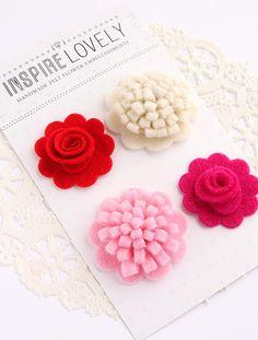 Handmade Felt Flower embellishments