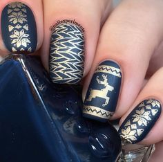 💙Classy mani from using our Purl Gurl Layered Stamping Plates. 💙Late night post from a mani I just got done doing… Golden Nail Art, Golden Nails, Nails Now, How To Do Nails, Christmas Nail Art, Holiday Nails, Nail Art Techniques, Nail Art Stamping Plates, Gel Nail Designs