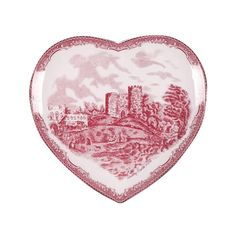 Johnson Brothers Old Britain Castles Pink Heart Plate