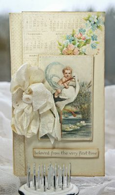 From Anne Kristine Skovborg Holt in Norway. Anne's paper fun Sweet Baby....Pion Design