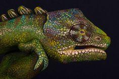 Pintura corporal: animales en manos