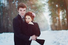 snowy wedding...just make sure you get out there before the sun sets! Timelines are super important particularly with winter wedding photography