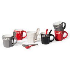 confezione 6 tazze e cucchiai loft