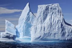 """Photo by @james_balog. A jagged iceberg floats in the Weddell Sea off the eastern coast of the Antarctic Peninsula. Scientists have determined that the Weddell Sea has the clearest water of any sea on the planet. Though crystal clear the sea is dangerous. In the 1950 book The White Continent author Thomas R. Henry notes """"The Weddell Sea is according to the testimony of all who have sailed through its berg-filled waters the most treacherous and dismal region on earth."""" Follow @james_balog for…"""