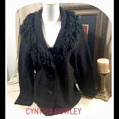Cynthia Rowley Awesome Jacket.  Sz M Check this awesome Cynthia Rowley jacket out?  Sz. M. 100% boiled wool except the trimming.  This is one beauty! Cynthia Rowley Jackets & Coats