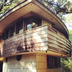 The Spring House/ Clifton & George Lewis II House. Tallahassee, Florida. 1954. Usonian Style Frank Lloyd Wright.