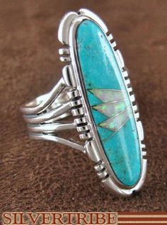 Turquoise And Opal Inlay