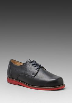 SOULLAND Thomas Derby Shoe in Navy