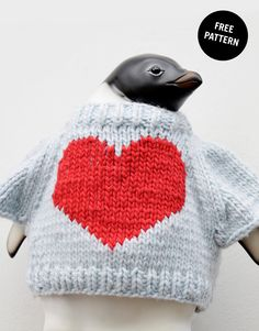 FREE knitted heart template <3