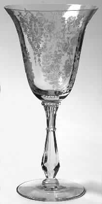 Tiffin - Franciscan Cherokee Rose Crystal Stemware Pattern