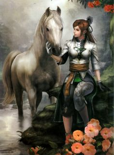 Yue Ying, wife of Zhuge Liang Anime Warrior, Warrior Girl, Fantasy Warrior, Character Inspiration, Character Art, Character Design, Fantasy Women, Fantasy Girl, Fantasy Characters