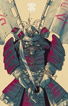 Samurai by Luca Marcenaro, via Behance