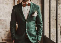 Shooting Emerald and Gold Dark Green Wedding Suit Green Wedding Suit, Wedding Suits, Wedding Men, Wedding Attire, Fall Wedding, Dark Green Suit Men, Green Tuxedo, Green Man, Emerald Green Weddings