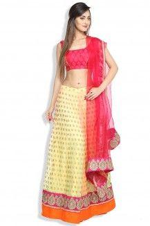 Pink And Gold Lehenga Choli  Rs. 14,000