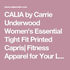 CALIA by Carrie Underwood Women's Essential Tight Fit Printed Capris| Fitness Apparel for Your Life.