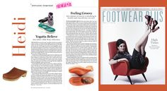 Footwear Plus article about MIA Clogs coming back. August 2015.