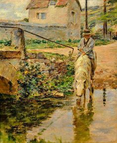 Theodore Robinson (1852-1896) - The watering place (1891)