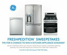 PIN to WIN a GE Kitchen Appliance Package