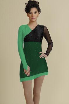 Great Green figure skating dress!