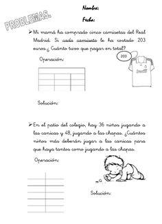 FICHA DE APLICACION DE PROBLEMAS MATEMATICOS PARA ALUMNOS DEL ...